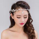 Crystal Hair Headpiece Handmade stones hair chain head chain wedding bridal head <b>Jewelry</b> Eyebrows falling