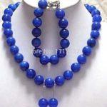 """<b>Jewelry</b> Sets 8mm Egyptian Lapis Lazuli Necklace 18"""" Bangle 7.5"""" Earrings Beads Stone Fashion <b>Jewelry</b> <b>Making</b> Wholesale Price"""