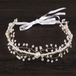 New <b>Handmade</b> Pearl Bridal Headbands Wedding Hair <b>Jewelry</b> Tiara Women Bride Hairbands Hair Accessories Party Pagent Headwear