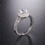 Hot Sale Real 925 Sterling <b>Silver</b> Wedding Ring Finger Luxury Cushion cut SONA diamond <b>Jewelry</b> For Women Engagement Rings Anel