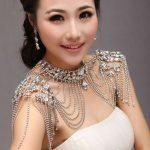 Calssic Super Luxury Queen Crystal <b>Wedding</b> <b>Jewelry</b> Shoulder Strap Bridal Necklace pretty women