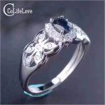Baroque style <b>silver</b> gemstone ring 4*5mm natural dark blue sapphire ring solid 925 <b>silver</b> sapphire ring vintage sapphire <b>jewelry</b>