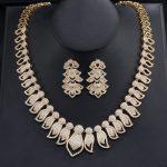 UILZ Brand New Design Luxury DuBai Women <b>Jewelry</b> Set Flower Shaped Zirconia Fashion <b>Jewelry</b> For Anniversay US382