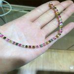 KJJEAXCMY fine jewelry S925 pure <b>silver</b> <b>bracelet</b>, natural tourmaline, many gem women's <b>bracelet</b> wholesale jewelry free shipping.
