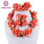 <b>Handmade</b> Natural Coral <b>Jewelry</b> Set Fashion African Coral Beads <b>Jewelry</b> Set Bridal <b>Jewelry</b> Free Shipping CNR100
