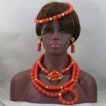 Luxury Stunning! <b>Native</b> <b>American</b> Style Coral Beads Necklace Set Lovely Necklace Accessories Fashion African <b>Jewelry</b> Set ABL913