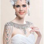 Rhinestone Crystal Bridal shoulder chain <b>wedding</b> <b>jewelry</b> Pary necklace