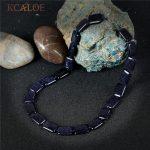 KCALOE Choker Necklace Vintage <b>Accessories</b> Square Blue Sand Handmade Rope Fashion <b>Jewelry</b> Semi-Precious Stones Necklaces Women