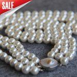 Necklace&Bracelet 8mm Blue Shell pearl beads 3set Seashell DIY gift for women beads <b>Jewelry</b> <b>making</b> design 17-19inch Wholesale