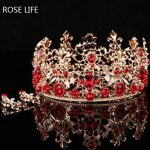 ROSE LIFE Chinese bride headdress bride <b>jewelry</b> <b>handmade</b> retro Coronet Xiu kimono dress headdress female crown