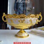 fruit dish fruit basket of European white gold <b>jewelry</b> KTV fruit bowl basin Home Furnishing garbage hotel <b>supplies</b>