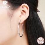2018 Summer Style Luminous Clearly CZ, Large Circle Hoop Earrings for Women EarRings <b>Fashion</b> <b>Jewelry</b> Valentine's Day Gift