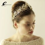 Gold Tiara Bridal Hair Accessories Crown <b>Handmade</b> Pearls Wedding Hair <b>Jewelry</b> Party Pom Bridal Diadem Veil Crowns