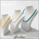 3pcs White PU Leather Neck Shelf Models Necklace Pendant Holder Mannequin Bust <b>Jewelry</b> Display Stand Show Storage Rack <b>Supplies</b>