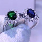 Princess Ring Luxury <b>Jewelry</b> <b>Handmade</b> Birthstone 5A Cubic Zirconia Pure 100% 925 Sterling Silver Women Wedding Band Ring Gift