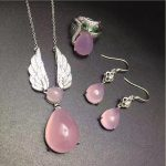 yu xin yuan chalcedony 925 <b>silver</b> inlaid ring <b>earrings</b> necklace fine jewelry for party