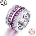 J.C Lady's Gorgeous Fine <b>Jewelry</b> Excellent Round Cut Ruby & White & Blue Sapphire Topaz 925 <b>Sterling</b> <b>Silver</b> Ring Size 6 7 8 9