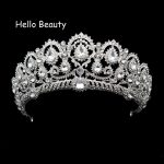 Big Vintage Rhinestone Prom Queen Crown Crystal Bride Quinceanera Tiaras Bridal Head <b>Jewelry</b> Pageant Wedding Hair Accessories