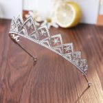 Full Cubic Zirconia AAA CZ Wedding Brides Crown Tiara Tiny Zircon Pave Round Cut Star Shape Princess Hair Coronet Hair <b>Jewelry</b>