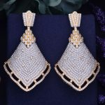 GODKI 68mm Luxury Popular Lace Dress Full Mirco Paved Cubic Zircon Naija <b>Wedding</b> Earring Fashion <b>Jewelry</b>