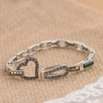FNJ 925 <b>Silver</b> <b>Bracelet</b> Natural Stone MARCASITE 16cm Chain S925 Thai <b>Silver</b> <b>Bracelets</b> for Women Jewelry