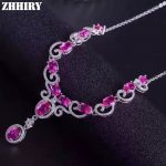 Women Natural Pink Topaz <b>Necklace</b> Pendant Genuine 925 Sterling <b>Silver</b> Gemstone Fine Jewelry ZHHIRY