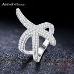 ANFASNI 2017 Latest 100% 925 Sterling Silver Ring Starfish Shaped Engagement Rings Wholesale For Women <b>Wedding</b> <b>Jewelry</b> CGSRI0030
