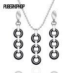 2017 New Healthy Ceramic Multiple Circles Pendant Necklaces for Woman Black White Ceramic Circle Layers Drop Necklace <b>Jewelry</b>