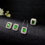 shilovem 925 <b>silver</b> sterling natural diopside pendants necklace <b>earring</b> ring classic fine Jewelry 2018 new wholesale tz040601agt