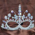 Face Mask Style Tiara Hair Combs Clear Austrian Rhinestone For Women Beauty Pageant Prom Party Brides Hair <b>Jewelry</b>