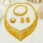 New Charm African Beads <b>Jewelry</b> Sets Heart-Shaped <b>Necklace</b> Earrings Women Fashion Nigerian Bride Wedding Big Gold <b>Jewelry</b> Sets
