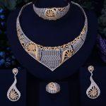 GODKI Luxury Conch Design Gold <b>Silver</b> Mixed Women Nigerian Wedding Naija Bride Cubic Zirconia Necklace Dubai 4PCS Jewelry Set