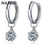 Snowflake 0.6cttw Moissanite Engagement <b>Earrings</b> 925 <b>Sterling</b> <b>Silver</b> Lab Grown Diamond Drops <b>Earrings</b> For Women Fine Jewelry