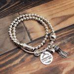 Handmade 100% 925 <b>Silver</b> Beaded Bracelet Real Pure <b>Silver</b> Designer Strand Bracelet Bohemian Beads Bracelet Women <b>Jewelry</b> gift
