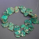 Green Imperial Emperor Stone Necklace, Top Drilled Slab Beads, <b>Accessories</b> <b>Jewelry</b> for Fashion Ladies