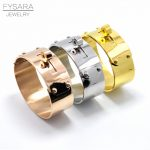 FYSARA Brand Rock <b>Jewelry</b> 21mm/12mm Upper Arm Big Wide Bracelet & Bangle For Men Women Love <b>Jewelry</b> Cuff Bangle Manchette