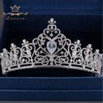 Bavoen Elegant Full Zircon <b>Wedding</b> Dress Tiaras Crowns Sparkling Silver Crystal Bridal Hair Accessories <b>Wedding</b> <b>Jewelry</b> Gifts