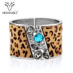 Viennois <b>Silver</b> Color Leopard Wide Bangle For Women Female Crystal Bracelets & Bangles Mixed Color Fashion <b>Jewelry</b>