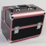 Pink and Black Color Brand Large Capacity Organizer Case for Cosmetics, <b>Fashion</b> Perfect Women <b>Jewelry</b> Storage Box for Gifts