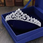 Full Zircon Leaf Tiara Copper Zircon Tiaras Micro Pave CZ Bride Crown Wedding Hair <b>Jewelry</b> Diadem Mariage Bijoux Coroa WIGO1042