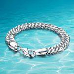 Hot sale!!!925 sterling silver <b>jewelry</b> bracelet men thick genuine solid silver bracelet men; Woven chain width 10mm