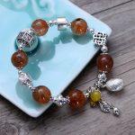 Fashion 925 Sterling <b>Silver</b> Vintage Single String Quartz Rutilated <b>Bracelet</b> Women Thai <b>Silver</b> Gift Jewelry CH058323
