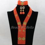 <b>Handmade</b> Statement Necklace Set Nigerian African Wedding Coral Bead <b>Jewelry</b> For Women Bridal <b>Jewelry</b> Sets Free Shipping ABK133