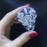 12 horoscope aries brooch pins 925 <b>sterling</b> <b>silver</b> with cubic zircon and fresh water pearls fashion women <b>jewelry</b> brooch