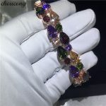 choucong Mona Lisa <b>bracelet</b> Rose Gold Filled AAAAA Zircon cz <b>Silver</b> Colors Wedding <b>bracelets</b> for women Fashion Jewerly