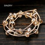 SINZRY New Classic design pure <b>handmade</b> DIY multi layer Genuine imported crystal personality charm bracelets <b>jewelry</b> gift