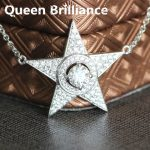 Platinum Plated <b>Silver</b> 0.5 Carat 5mm No Less Than GH Color Star Shaped Lab Grown Moissanite Pendant <b>Necklace</b> Test Positive