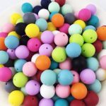 10 12 15 20mm Silicone Beads Loose Teething Chew <b>Jewelry</b> Teething Necklace Teether Toy DIY <b>Supplies</b> for Kids 200pcs/lot