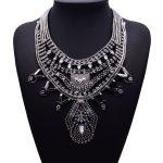 Crystal Bohemian Choker Pendant Statement Necklace Vintage Silver Colar Rhinestone Metal Chucky Bib Female <b>Jewelry</b> <b>Accessories</b>