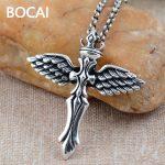 wholesale 925 <b>sterling</b> <b>silver</b> <b>jewelry</b> <b>silver</b> retro angel wings Cross Pendant xh025174w